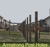 Armstrong Post Holes